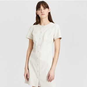 Leather Easy Snap Shift Dress